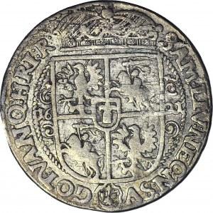Zygmunt III Waza, Ort 1621, Bydgoszcz, kwiat róży, PRVM przebite z PRSM