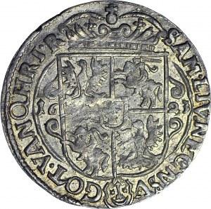 Zygmunt III Waza, Ort 1623, Bydgoszcz, PRVM+, rzadszy typ korony, piękny