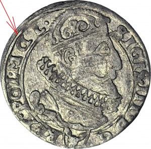 RRR-, Zygmunt III Waza, Szóstak 1626, Kraków, odwrócone D w legendzie