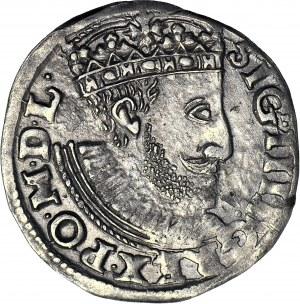 Zygmunt III Waza, Trojak 1589 Poznań, popiersie z dużym zarostem króla
