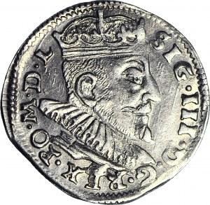 """Zygmunt III Waza, Trojak 1592 Wilno, duża cyfra """"Z"""" w dacie"""