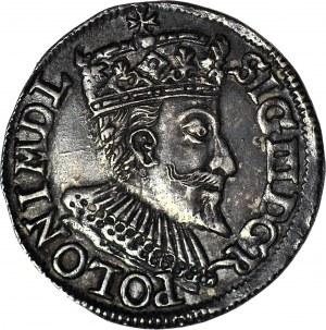 Zygmunt III Waza, Trojak 1594 MDL, Olkusz, piękny