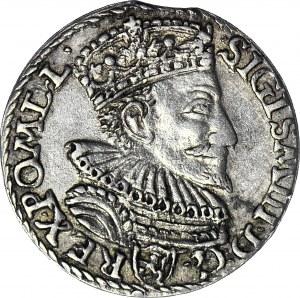 Zygmunt III Waza, Trojak 1594, Malbork, niedobite D - wygląda jak L