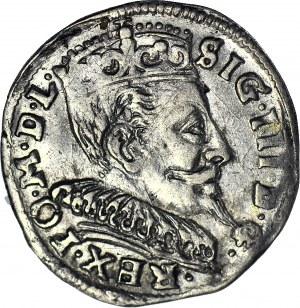 Zygmunt III Waza, Trojak 1594, Wilno, Iger nie notuje gwiazdek wokół nominału, piękny