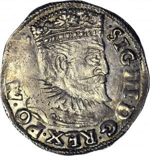 Zygmunt III Waza, Trojak 1595, Poznań, inicjały V-I, menniczy