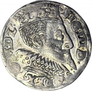 Zygmunt III Waza, Trojak 1596 Bydgoszcz, piękny