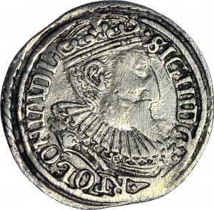 Zygmunt III Waza, Trojak 1597, Olkusz, DUŻE ROMBY, menniczy