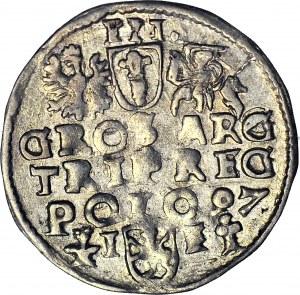 RR-, Zygmunt III Waza, Trojak 1597, Wschowa, SIGI 3, szeroka głowa, NIENOTOWANY