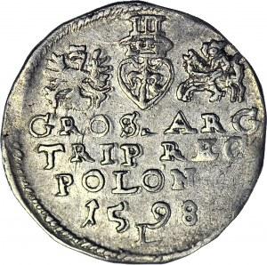 Zygmunt III Waza, Trojak 1598 Lublin, L rozdziela datę