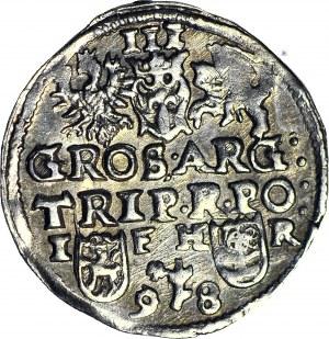 Zygmunt III Waza, Trojak 1598, Poznań, IF HR, data rozdzielona znakiem