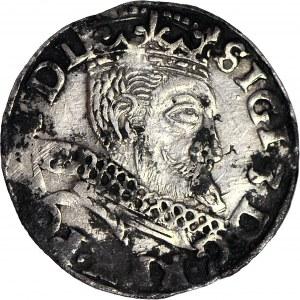 R-, Zygmunt III Waza, Trojak 1598, Wschowa, litery HR-K, rzadki, Iger nie notuje