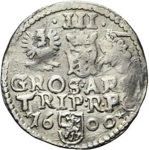 RR-, Zygmunt III Waza, Trojak 1600, Poznań, rzadki