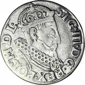 RRR-, Zygmunt III Waza, Trojak 1621, Kraków, błąd TRP, nienotowany