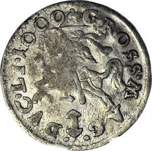 RRR-, Zygmunt III Waza, Grosz BŁĄD 1000 (zamiast 1609), Wilno, R8, c.a.