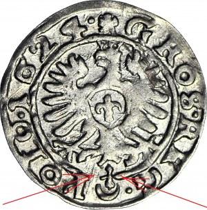 RRR-, Zygmunt III Waza, Grosz 1624, Bydgoszcz, brak gwiazdek w herbie Sas, nienotowany
