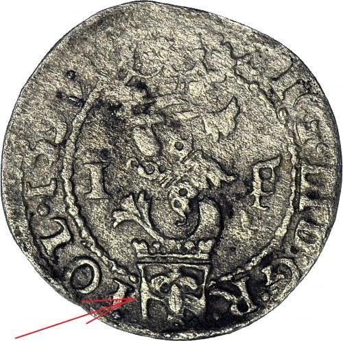 RRR-, Zygmunt III Waza, Szeląg 1592, Olkusz, HERB SNOPEK OBUSTRONNIE, R8