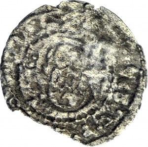 RRR-, Zygmunt III Waza, Szeląg 1618, Wilno, ODWRÓCONY MONOGRAM S, jednostronne brockage
