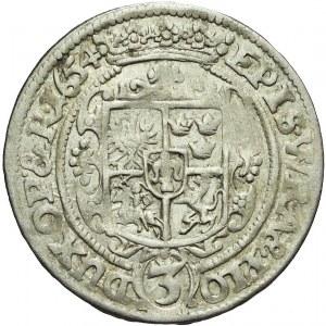 RRR-, Karol Ferdynand Waza, Księstwo Opolsko-Raciborskie, 3 krajcary 1654, Opole, R7