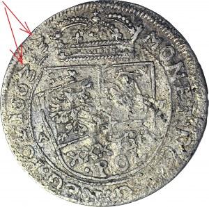 Jan II Kazimierz, Tymf 1663, Kraków, POPOTIORQ3, data 1663.3