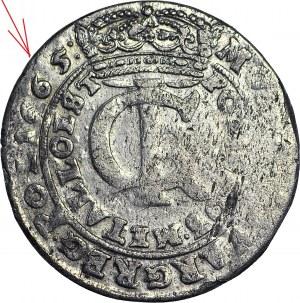 RR-, Jan II Kazimierz, Tymf 1665, Bydgoszcz, DATA OBUSTRONNIE