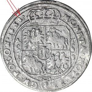 RR-, Jan II Kazimierz, Ort 165(8)8, Poznań, drobne napisy, podwójna ostatnia cyfra daty