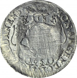 Jan II Kazimierz, Ort 1651, Gdańsk, bez obwódek