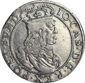 R-, Jan II Kazimierz, Ort 1658, Kraków, obwódki, wąski portret