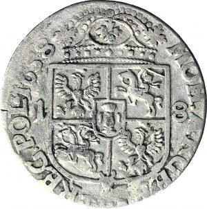 RR-, Jan II Kazimierz, Ort 1658, Kraków, popiersie Karola Gustawa, rzadki