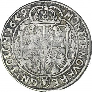 R-, Jan Kazimierz, Ort 1659, Poznań, kropki w dacie 16.5.9.