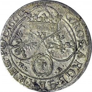 Jan II Kazimierz, Szóstak 1660 TLB, Kraków, IO.CASIM