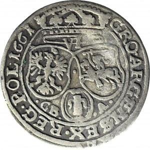 Jan II Kazimierz, Szóstak, 1661 GBA, Lwów