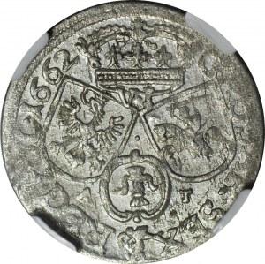 Jan II Kazimierz, Szóstak 1662, Bydgoszcz, piękny