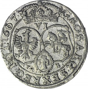 Jan II Kazimierz, Szóstak 1667 Bydgoszcz, ładny