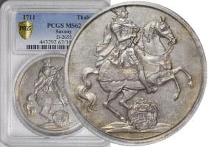 R-, August II Mocny, Talar Wikariacki 1711 Drezno, menniczy