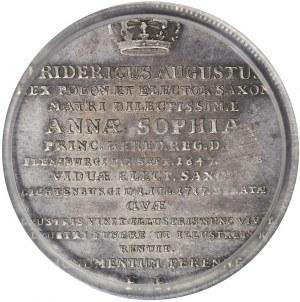 R-, August II Mocny, Talar 1717 na śmierć matki, Drezno, bardzo ładny