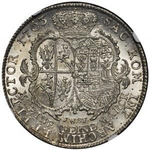 R-, August III Sas, Talar 1763, Drezno, piękny