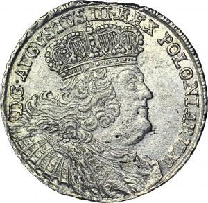 August III Sas, Dwuzłotówka (8 groszy) 1753