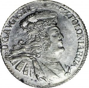 R-, August III Sas, Dwuzłotówka koronna (8GR) 1753, GAŁĄZKI zamiast EC