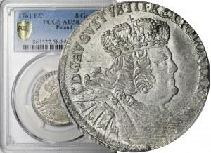 R-, August III Sas, Dwuzłotówka (8 groszy) 1761, rzadka