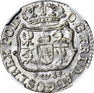 August III Sas, 1/24 talara 1756 FwoF, wspaniałe