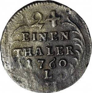 R-, August III Sas, 1/24 talara 1760, WYSOKA KORONA