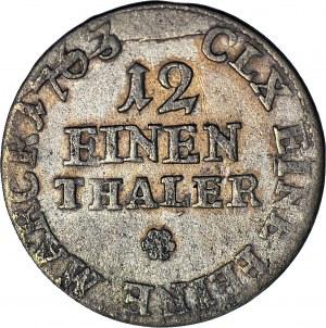 August III Sas, 1/12 talara (dwugrosz) 1763 EDC, Lipsk
