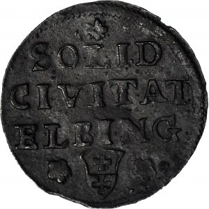 R-, August III, Szeląg 1761, Elbląg, R3