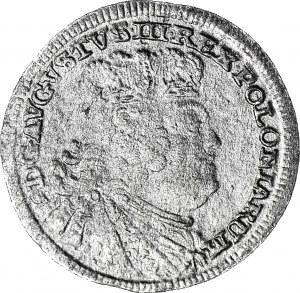 RR-, August III Sas, Półtorak portretowy 1756, Lipsk, PULTORAK, R4