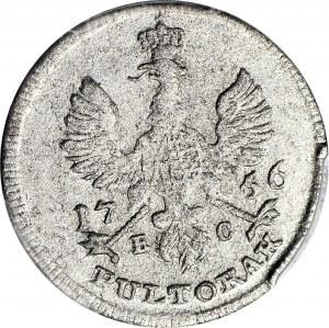 August III Sas, Półtorak portretowy 1756, Lipsk, PULTORAK, R4