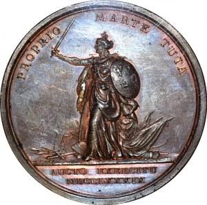 R-, Stanisław A. Poniatowski, Medal 1789 r., wystawienie pomnika J. III Sobieskiego, WYŚMIENITY