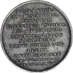 Medal Suity Królewskiej autorstwa Holzhaeussera, Kazimierz Jagiellończyk, odlew w żeliwie z huty Białogon