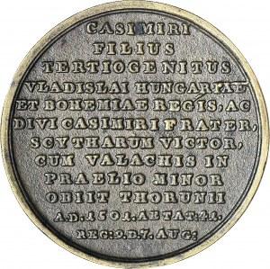 Medal Suity Królewskiej autorstwa Holzhaeussera, Jan Olbracht, odlew w brązie z huty Białogon