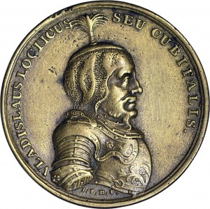 Medal Suity Królewskiej autorstwa Holzhaeussera, Władysław Łokietek, odlew w brązie z huty Białogon