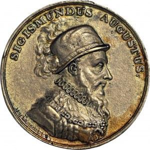 Medal Suity Królewskiej autorstwa J.J. Reichela, Zygmunt August, odlew w brązie z huty Białogon
